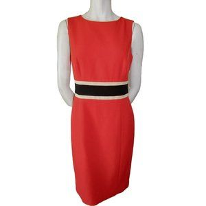 Evan Picone Orange Sheath Dress 4 (fits like a 6)
